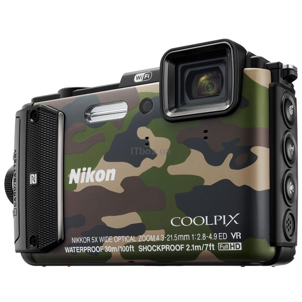 Фотоаппарат Nikon AW130 Coolpix Camouflage