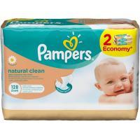 Влажные салфетки Pampers Natural Clean 2Х64шт (4015400637028)