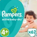 Подгузник Pampers Active Baby-Dry Maxi Plus (9-16 кг), 62шт Фото