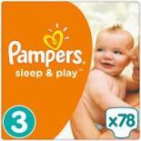 Подгузник Pampers Sleep & Play Midi Размер 3 (4-9 кг), 78 шт Фото