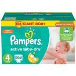 Подгузник Pampers Active Baby-Dry Maxi Размер 4 (8-14 кг), 106 шт Фото 1