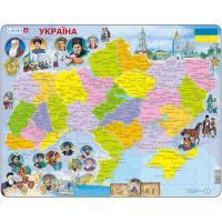 Пазл Larsen Карта Украины - история Фото