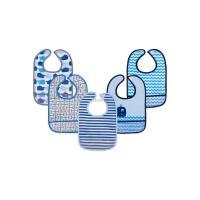 Слюнявчик Luvable Friends 5 шт с узорами, голубой Фото