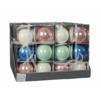 Елочная игрушка Christmas House Шарик мультицветный 8 см 6 шт Фото