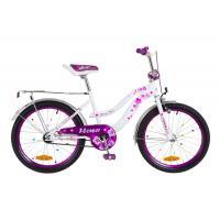 """Детский велосипед Formula 20"""" FLOWER 2018 14G рама-13"""" St бело-фиолетовый Фото"""