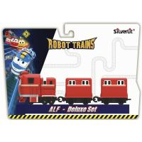 Игровой набор Silverlit Robot Trains Паровозик с двумя вагонами Альф Фото