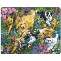 Пазл Larsen рамка-вкладыш Собаки на лугу серия МАКСИ Фото