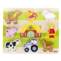 Розвиваюча іграшка Goki Пазл-вкладыш - Наша ферма Фото