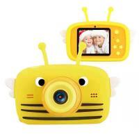 Інтерактивна іграшка XoKo Bee Dual Lens Цифровой детский фотоаппарат оранжев Фото