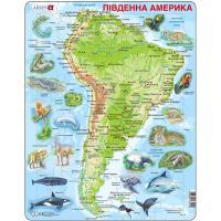 Пазл Larsen рамка-вкладыш Карта Южной Америки - животный мир Фото