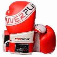 Боксерские перчатки PowerPlay 3023A 10oz Red/White Фото