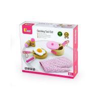 Игровой набор Viga Toys Игрушечная посуда из дерева, розовый Фото