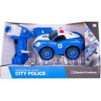 Конструктор Diy Spatial Creativity Полицейская машина с электродвигателем Фото