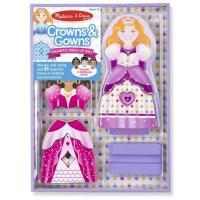Игровой набор Melissa&Doug Магнитная одевалка Короны и платья Фото