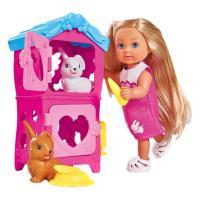 Кукла Simba Эви Домик кроликов с аксессуарами Фото