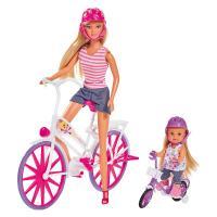 Лялька Simba Штеффи и Эви Прогулка на велосипедах Фото