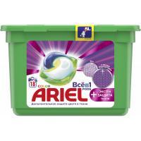 Капсули для прання Ariel Pods Все-в-1 + Экстра защита ткани 18 шт. Фото