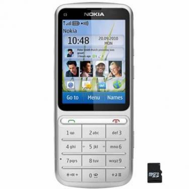Мобільний телефон C3-01 (Touch and Type) Silver Nokia (002S9P8) - фото 1