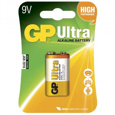 Батарейка GP Крона Ultra Alcaline 6LF22 9V * 1 (GP1604AU-5UE1) - фото 1