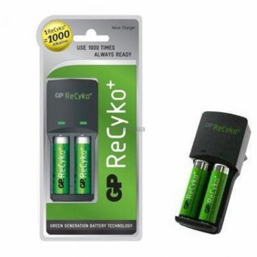 Зарядний пристрій для акумуляторів ReCyko+ AR02 + 2х2100АА ReCyko+ GP (AR04) - фото 1