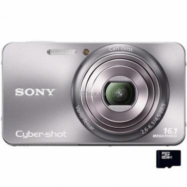 Цифровий фотоапарат Cybershot DSC-W570 silver Sony (DSCW570S.CEE2) - фото 1