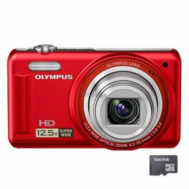 Цифровий фотоапарат VR-320 red Olympus (N4300192) - фото 1