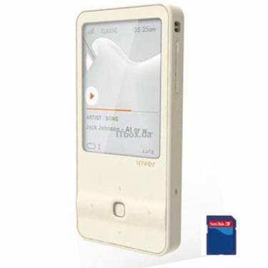 mp3 плеер iRiver E300 8GB White (3E3004C-RUWEN1/3E3004C-IMWEN1) - фото 1