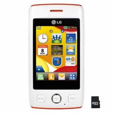 Мобильный телефон T300 (Cookie Light) White Orange LG (T300 WA) - фото 1