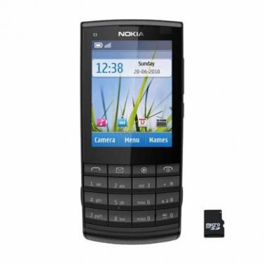 Мобильный телефон X3-02 (Touch and Type) Dark Metal Nokia (002V074) - фото 1