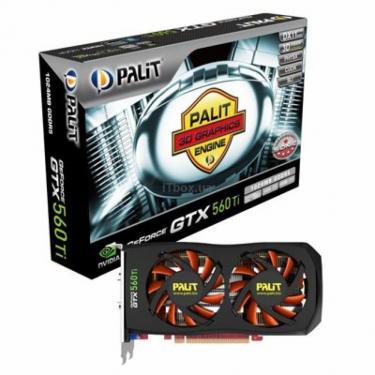 Видеокарта GeForce GTX560 Ti 1024Mb SONIC PALIT (NE5X56TS1102-1140F) - фото 1