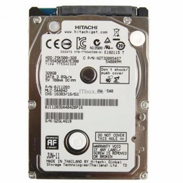 """Жесткий диск для ноутбука 2.5"""" 320GB WDC Hitachi HGST (HTS545032A7E380) - фото 1"""