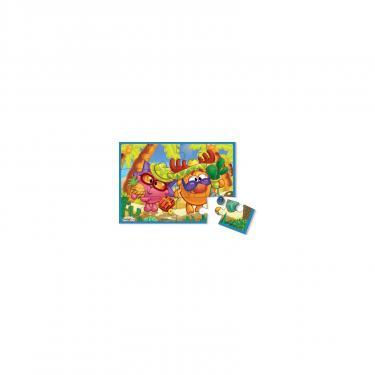 Пазл Vladi Toys А5 Смешарики Ежик и Лосяш 12 элементов Фото