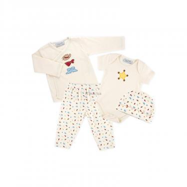 Набор детской одежды Luvena Fortuna человечек, штанишки, кофточка и шапочка Фото