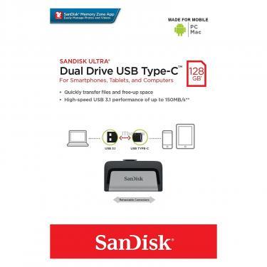 USB флеш накопитель SANDISK 128GB Ultra Dual USB 3.0/Type-C (SDDDC2-128G-G46) - фото 12