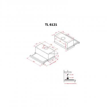 Вытяжка кухонная Perfelli TL 6121 BL Фото 6