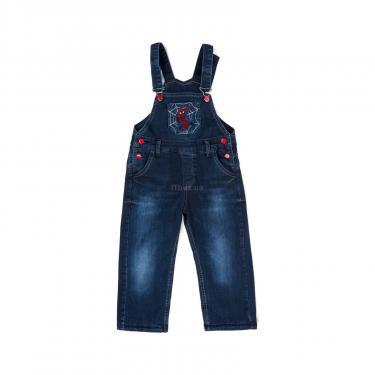Комбинезон A-Yugi джинсовый утепленный (1074-104B-blue) - фото 1