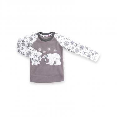 Пижама Matilda флисовая с мишками и снежинками (7161-122G-white) - фото 2