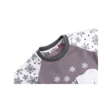 Пижама Matilda флисовая с мишками и снежинками (7161-122G-white) - фото 4