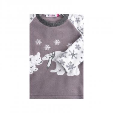 Пижама Matilda флисовая с мишками и снежинками (7161-122G-white) - фото 5