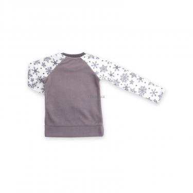 Пижама Matilda флисовая с мишками и снежинками (7161-122G-white) - фото 6