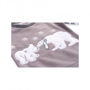 Пижама Matilda флисовая с мишками и снежинками (7161-122G-white) - фото 7