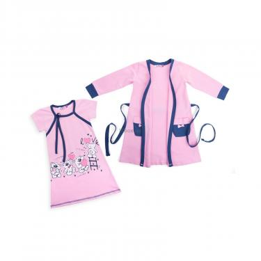 "Піжама Matilda и халат с мишками ""Love"" (7445-152G-pink) - фото 1"