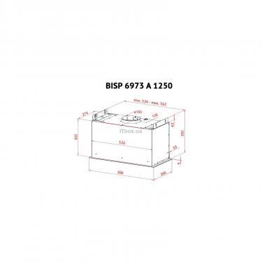 Вытяжка кухонная PERFELLI BISP 6973 A 1250 IV LED Strip - фото 9