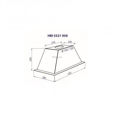 Вытяжка кухонная MINOLA HBI 5521 IV 950 - фото 3