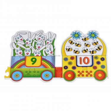 Пазл Same Toy Большой поезд Букв и Цифр Фото 2