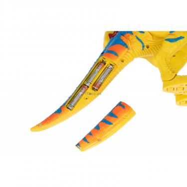 Интерактивная игрушка Same Toy Динозавр Dino World желтый со светом и звуком зеле Фото 3