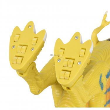 Интерактивная игрушка Same Toy Динозавр Dino World желтый со светом и звуком зеле Фото 5
