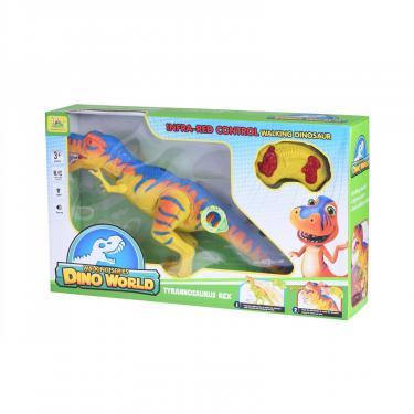 Интерактивная игрушка Same Toy Динозавр Dino World желтый со светом и звуком зеле Фото