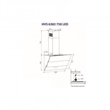 Витяжка кухонна Minola HVS 6382 WH 750 LED - фото 8