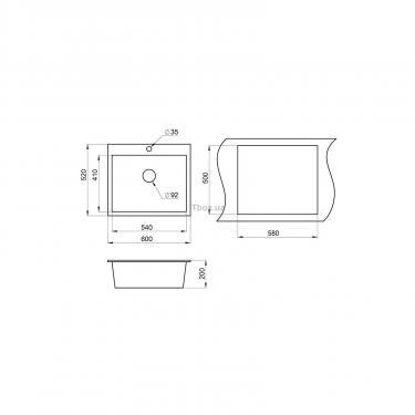 Мийка кухонна Minola MPG 1060-60 Классик - фото 2